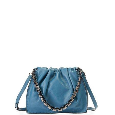 Bolsa Athina Elisa Atheniense (BR2579) Couro Azul