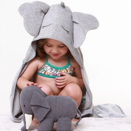 Toalha de Banho com Capuz - Elefante