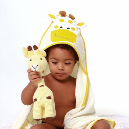 Toalha de Banho com Capuz - Girafa