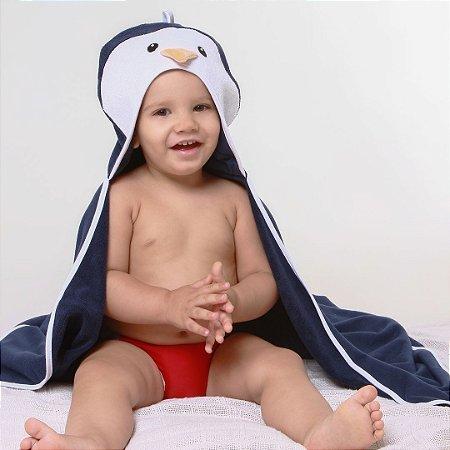 Toalha de Banho com Capuz - Pinguim