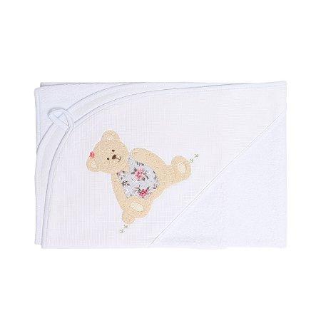 Toalha de Banho com Capuz Patchwork - Ursa