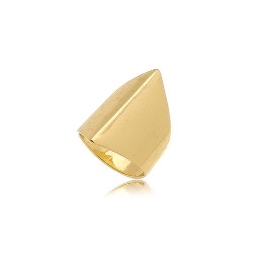 Anel Gladeador Liso Folheado Ouro Amarelo 18k