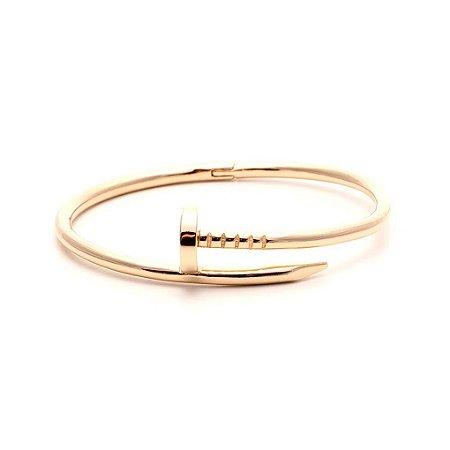 Bracelete Prego Liso Folheado Ouro Amarelo 18k