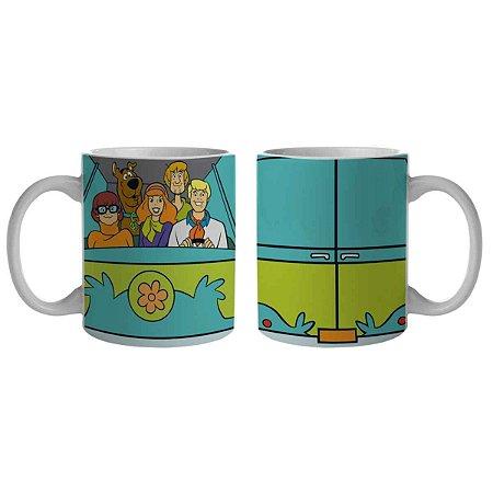 Caneca Porcelana Hanna Barbera Scooby Doo e Amigos na Máquina do Mistério 300 ml