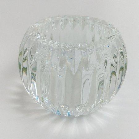 Castiçal Porta Velas Decorativo Bola Transparente Decorativo Vidro