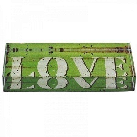 Pesos para Papel LOVE de Vidro Decorativo