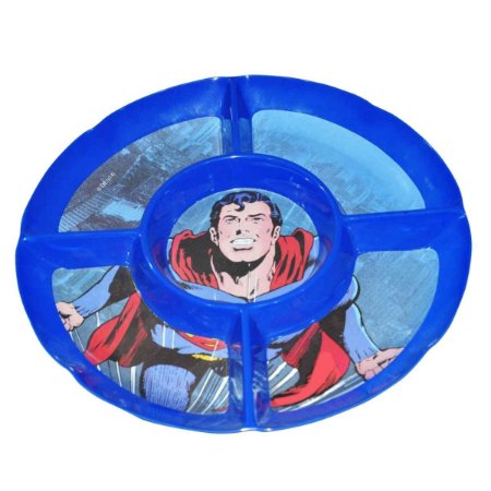 Petisqueira de Melamina Redonda DC Comics Superman 5 Divisórias