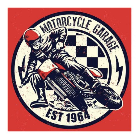Placa Decorativa Motorcycle Garage Madeira