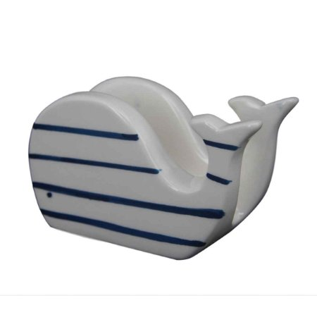 Porta Guardanapo Decorativo Com Formato Baleia Cerâmica