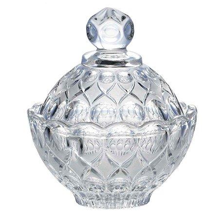 Pote Decorativo Vidro Transparente Clássico