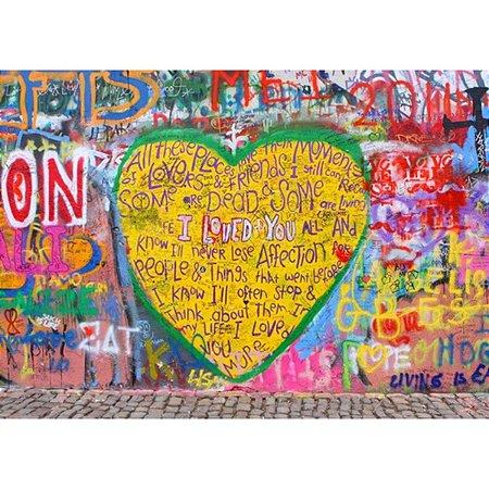 Tela Grande Street Art Yellow Heart