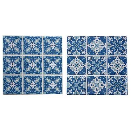 Conjunto de Porta Panela de Cerâmica Estampados 2 peças