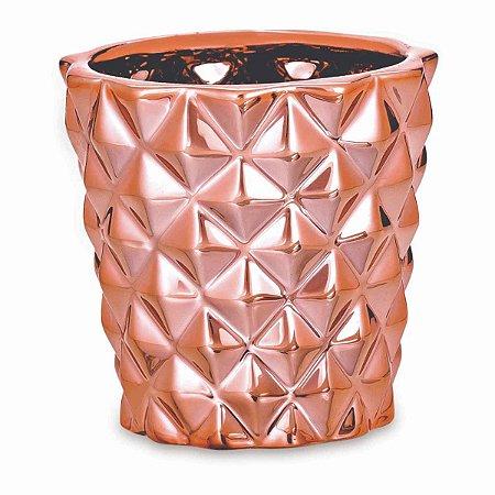 Cachepot Decorativo Rose Gold em Cerâmica