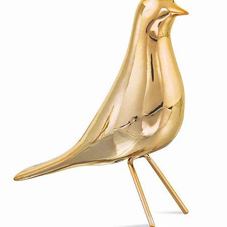 Passaro Dourado em Cerâmica