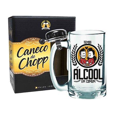 Caneco de Chopp com Campainha Álcool em Comum 340 ml
