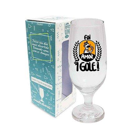 Taça de Cerveja Amor ao Primeiro Gole 300 ml