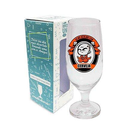 Taça de Cerveja Acalmo com Cerveja 300 ml
