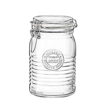 Pote de Vidro Italiano Hermético Bormioli Rocco Officina Since 1825 Vidro e Tampa Transparentes 1 Litro (1000ml)