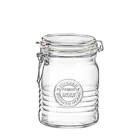 Pote de Vidro Italiano Hermético Bormioli Rocco Officina Since 1825 Vidro e Tampa Transparentes 750ml