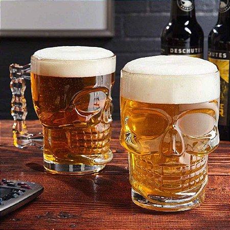 Canecão Caveira para Chopp Cerveja 500 ml
