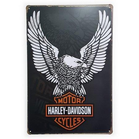 Placa Decorativa de Metal Harley Davidson Águia