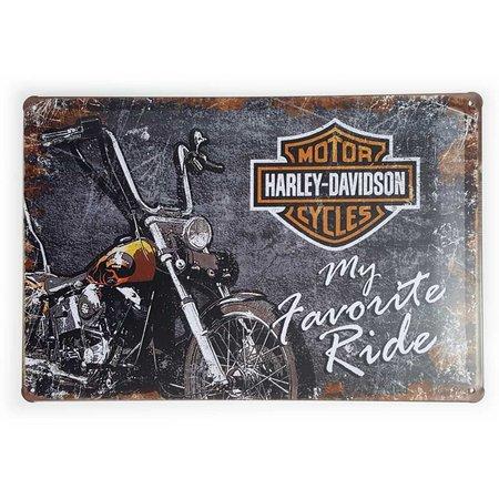 Placa Decorativa de Metal Harley Davidson My Favorite Ride