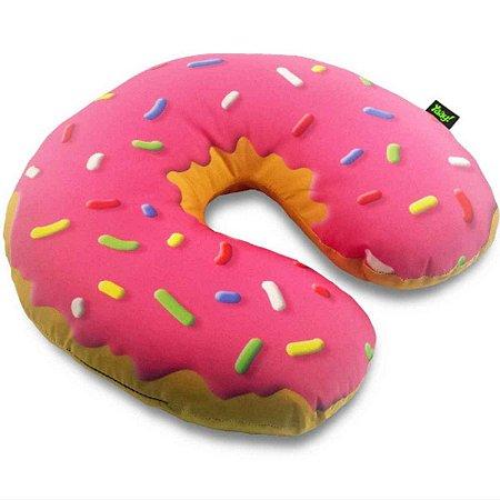 Almofada de Pescoco Rosquinha Donut Morango