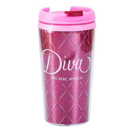 Copo Térmico Pop Glitter - Diva