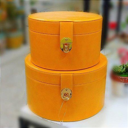 Caixa Organizadora Luxo MDF Amarelo