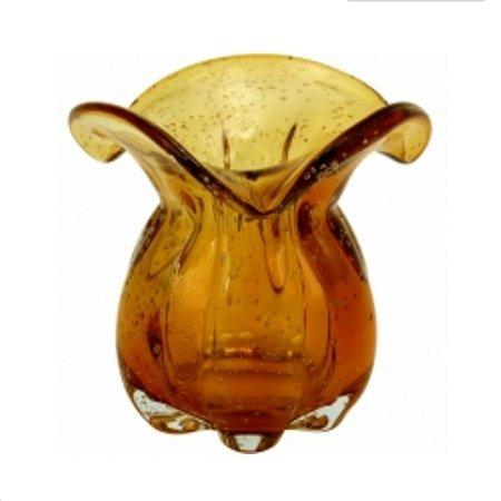 Vaso Antonella 16 x 17 cm Vidro Âmbar