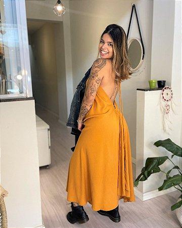 Vestido Antonella - Mostarda