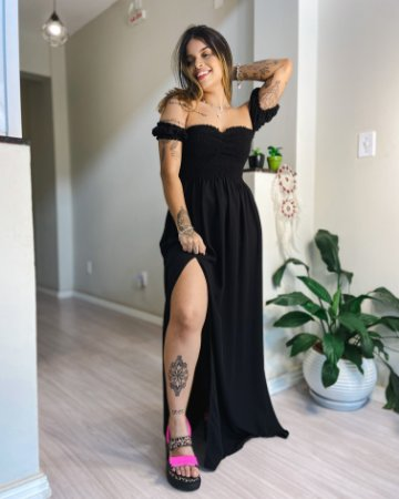 Vestido Lari Longo - Preto