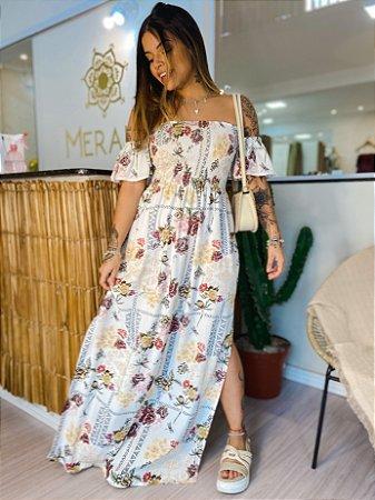 Vestido Luiza Longo - Floriô Branco
