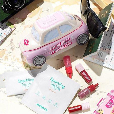 [PERIPERA] Mini Mini Travel Car Pink - 5 itens