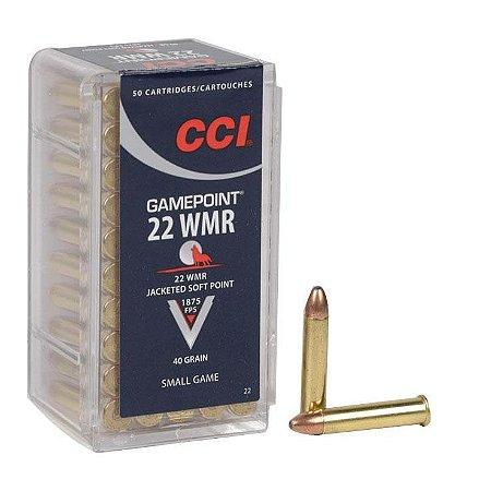 CARTUCHO .22 MAG GAMEPOIN JSP 40GR CCI||