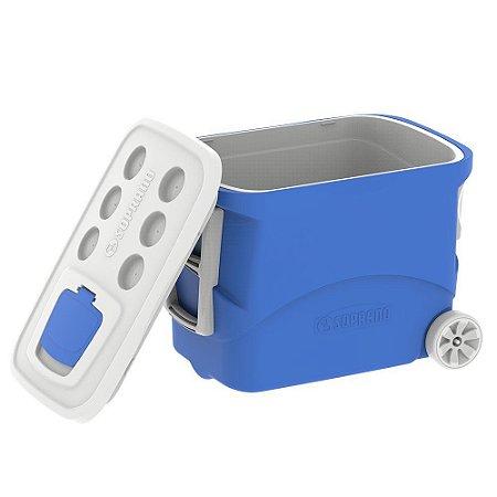 Caixa Térmica Tropical C/Rodas 50L -Azul