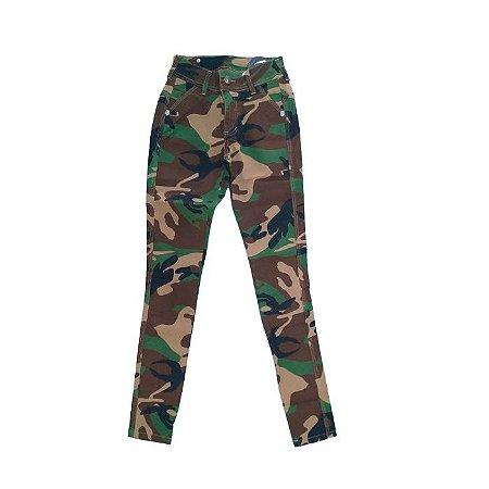 Calça Skinny Army Fox Boy -Black Green