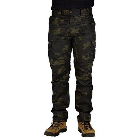 Calça Tática Safo Cintura Ajustável Multicam Black