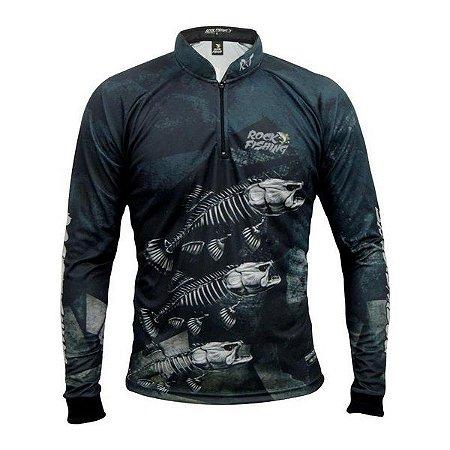 Camisa Com Proteção Rock Fishing-Skull Black