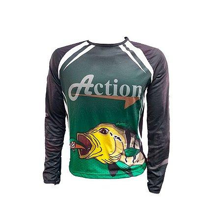 Camisa De Pesca Proteção UV Action -P