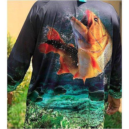 Camisa De Proteção Hiper Pesca Dourado