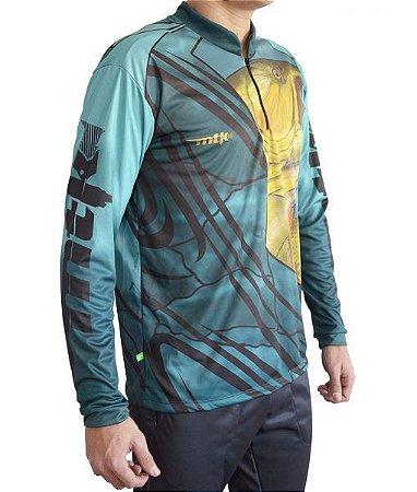Camiseta C/ Proteção MTK Atack Z Masc. F.35 -Dourado
