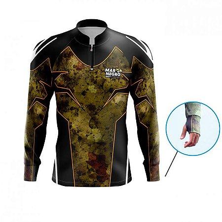Camiseta De Proteção Mar Negro Mas Peixes Clean 4