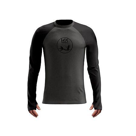 Camiseta De Proteção Mar Negro Mas Poliamida Chumbo/Preto