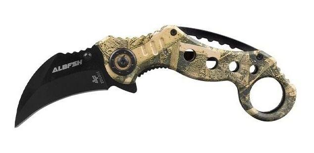 Canivete Karambit Albatroz ZDL005 Amarelo Camuflado