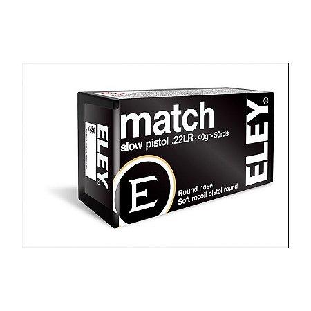 Cartucho ELEY .22LR Match-Caixa 50UN