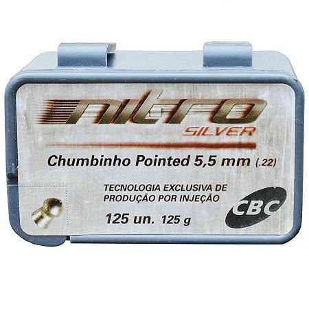 Chumbinho Cbc Nitro Silver 5.5MM C/125