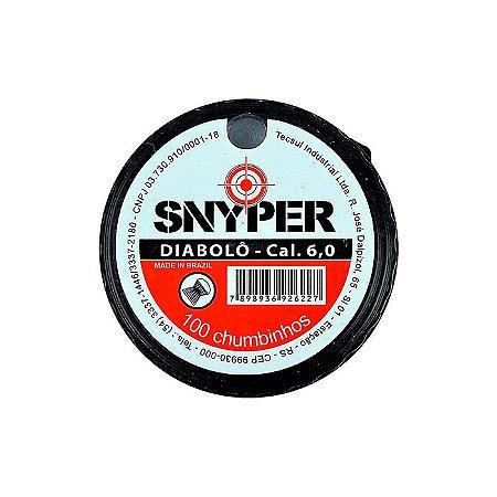 Chumbinho Diabolo Snyper 6,0mm - C/100UN