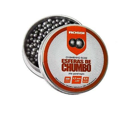 Chumbinho Rossi Esferas De Chumbo 4.5mm C/500Un 0,6g