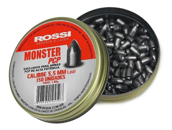 Chumbinho Rossi Monster 5,5MM 150 UN